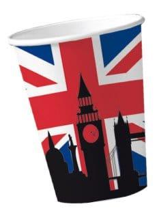 """Party-Becher: Pappbecher, Großbritannien-Motiv """"Union Jack"""", 200 ml, 10 Stück - 1"""