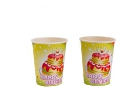 "Party-Becher: Pappbecher, ""Happy Birthday"", 0,25 l, 8er-Pack - 1"