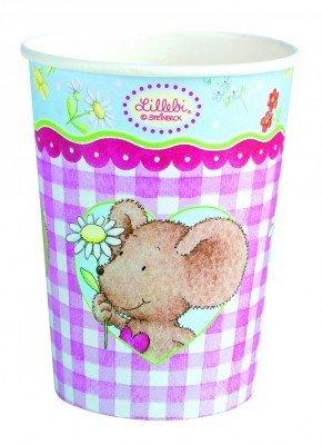 """Party-Becher: Pappbecher, """"Lillebi Flowers"""", 250 ml, 8er-Pack - 1"""
