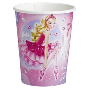 """Party-Becher: Pappbecher, Motiv """"Barbie Pink Shoes"""", 250 ml, 8 Stück - 1"""