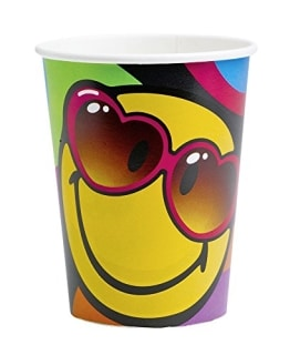 "Party-Becher: Pappbecher, Motiv ""Smiley Express Yourself"", 250 ml, 8 Stück - 1"