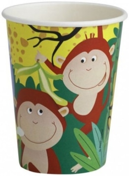 "Party-Becher: Pappbecher, ""Safari"", 0,25 l, 8er-Pack - 1"