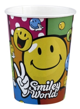 "Party-Becher: Pappbecher, ""Smiley World"" Comic, 250 ml, 8er-Pack - 1"