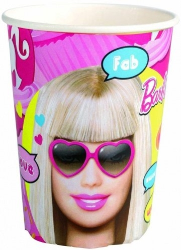 "Party-Becher: Pappbecher, ""Totally Barbie"" Comic, 250 ml, 8er-Pack - 1"