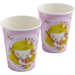 "Party-Becher: Pappteller, ""kleine Prinzessin"", 250 ml, 8er-Pack - 1"