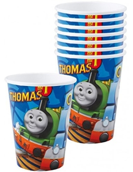 Party-Becher: Trinkbecher mit der Lokomotive Thomas, 250 ml, 8er-Pack - 1