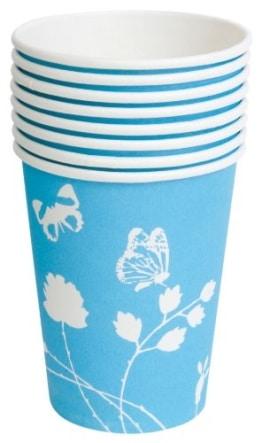 Party-Becher: Trinkbecher, Sommermotiv Daisy, blau, 250 ml, 8 Stück - 1