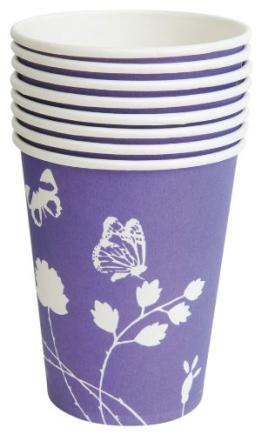 Party-Becher: Trinkbecher, Sommermotiv Daisy, lila, 250 ml, 8 Stück - 1
