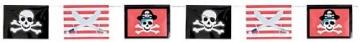 Party-Kette: Flaggen-Kette, Piratensymbole, 365 x 25 cm - 2