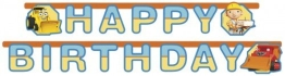 """Party-Kette: Geburtstagskette, Bob der Baumeister, """"Happy Birthday"""", 180 cm - 1"""