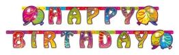 """Party-Kette: Geburtstagskette, """"Happy Birthday"""", holografisch, 175 x 15 cm - 1"""