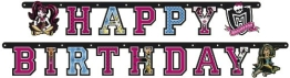 "Party-Kette: Geburtstagskette, Monster High, ""Happy Birthday"", 180 cm - 1"