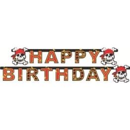 """Party-Kette: Geburtstagskette, Schriftzug """"Happy Birthday"""", Jolly Roger, 180 cm - 1"""