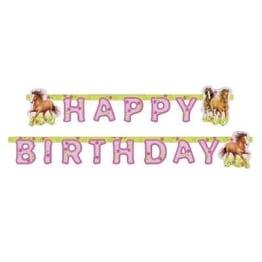 """Party-Kette: Geburtstagskette, Schriftzug """"Happy Birthday"""", Pferde-Motiv, 180 x 15 cm - 1"""
