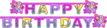 "Party-Kette: Schriftzug ""Happy Birthday"", Funky-Fairy-Serie, 180 x 15 cm - 1"