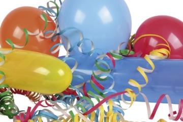 Party-Packung: 25 Luftballons, 2 Luftschlangen - 1