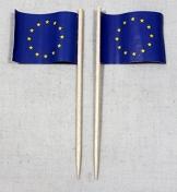 Party-Picker Flagge Europa Europaflagge Papierfähnchen in Profiqualität 50 Stück Beutel Offsetdruck Riesenauswahl aus eigener Herstellung - 1