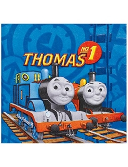 Party-Servietten: Servietten mit der Lokomotive Thomas, 33 x 33 cm, 20er-Pack - 1