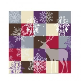 Party-Servietten: Servietten, Winterfarben, Hirsch, 33 x 33 cm, 20er-Pack - 1