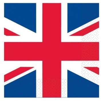 Party-Servietten Union Jack, Großbritannien-Motiv, 16er-Pack, 33 x 33 cm - 2