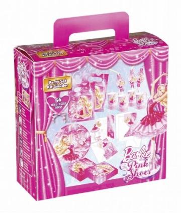 """Party-Set: Partyutensilien mit Motiv """"Barbie Pink Shoes"""", 56 Teile - 1"""