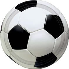 Party-Teller, Fußball-Motiv, 23 cm Durchmesser, 8er-Pack - 1