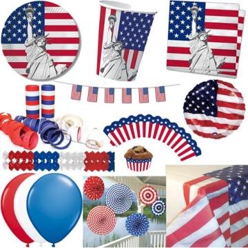 Party-Teller: Pappteller, Amerika-Design, 23 cm, 10er-Pack - 2