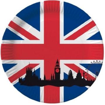"Party-Teller: Pappteller, Großbritannien-Motiv ""Union Jack"", 33 cm, 10 Stück - 1"