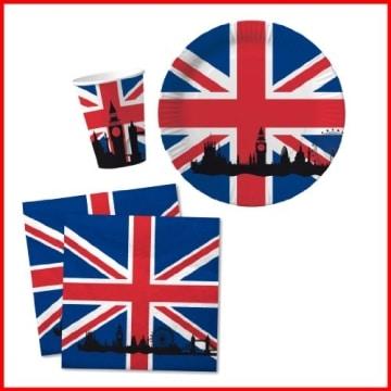 "Party-Teller: Pappteller, Großbritannien-Motiv ""Union Jack"", 33 cm, 10 Stück - 2"