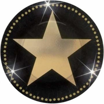 Party-Teller: Pappteller, großer Hollywood-Stern, 17 cm, 8er-Pack - 1