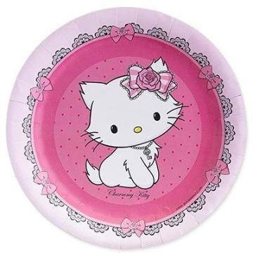 Party-Teller: Pappteller, Hello Kitty/Charmmy Kitty, 23 cm, 8er-Pack - 1