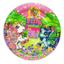 """Party-Teller: Pappteller mit dem Motiv """"Filly Fairy"""", 23 cm, 8er-Pack - 1"""