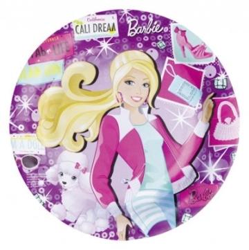 "Party-Teller: Pappteller, Motiv ""Barbie Fashion"", 23 cm, 8 Stück - 1"
