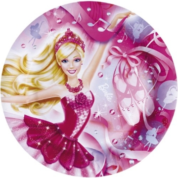 "Party-Teller: Pappteller, Motiv ""Barbie Pink Shoes"", 23 cm, 8 Stück - 1"