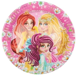 "Party-Teller: Pappteller, Motiv ""Princess"", 18 cm Durchmesser, 8er-Pack - 1"