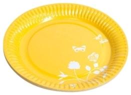 """Party-Teller: Pappteller, Sommermotiv """"Daisy"""", gelb, 23 cm, 8er-Pack - 1"""