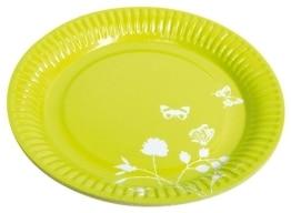 Party-Teller: Pappteller, Sommermotiv Daisy, grün, 23 cm, 8er-Pack - 1