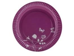 """Party-Teller: Pappteller, Sommermotiv """"Daisy"""", pink, 23 cm, 8er-Pack - 1"""