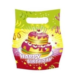 "Party-Tüten: Geschenktüten, ""Happy Birthday"", 6er-Pack - 1"