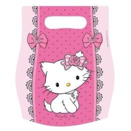 Party-Tüten, Geschenktüten, Hello Kitty/Charmmy Kitty, 6 Stück - 1