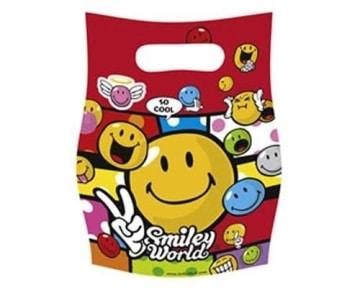 """Party-Tüten: Geschenktüten, """"Smiley World"""" Comic, 6er-Pack - 1"""