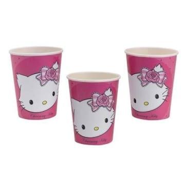 Partybecher: Pappteller, Hello Kitty/Charmmy Kitty, 250 ml, 8er-Pack - 1