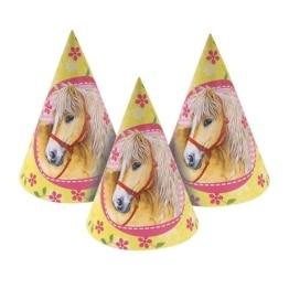Partyhut: Partyhütchen, Pferdemotiv, 6 Stück - 1