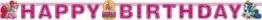 """Partykette: Schriftzug """"Happy Birthday"""" mit Motiv """"Filly Fairy"""", 190 cm - 1"""