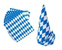 Partyservietten mit blau-weißen Rauten, 20er-Pack - 1