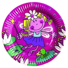 """Partyteller: Motiv """"funky Fee"""", 23 cm, 8er-Pack - 1"""