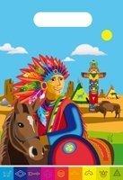 Partytüte, Indianer-Motiv, 8er-Pack - 1
