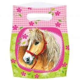 Partytüte: Pferde-Motiv, 6er-Pack - 1