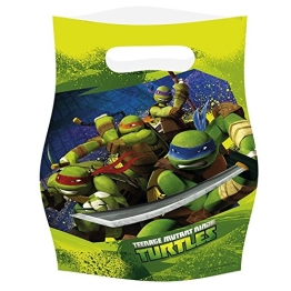 """Partytüten: Geschenktüten, Motiv """"Teenage Mutant Ninja Turtles"""", 6 Stück - 1"""