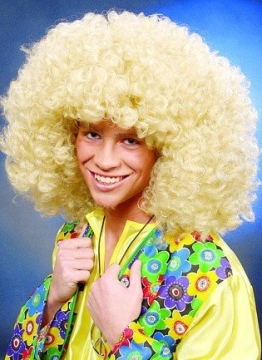 Perücke: Afro-Perücke, blond - 1